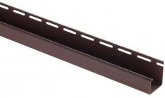 "Сайдинг Планка ""J - trim"", 3660 мм, цвет Коричневый"