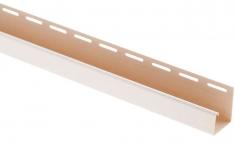 """Сайдинг Планка """"J - trim"""", 3660 мм, цвет Белый"""