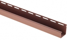 """Сайдинг Планка """"J - trim"""", 3660 мм, цвет Красно-коричневый"""