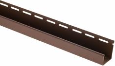 """Сайдинг Планка """"J - trim"""", 3660 мм, цвет Орех тёмный"""