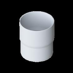 Муфта трубы для водосточной системы Элит (цвет белый)