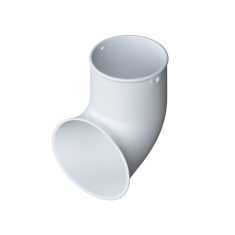 Слив трубы для водосточной системы Элит (цвет белый)